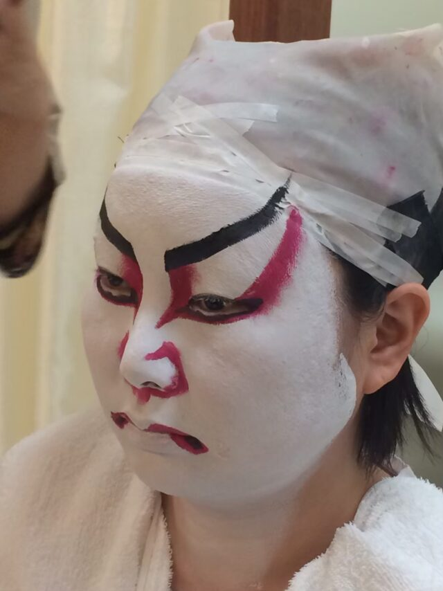 着物 変身写真 歌舞伎 コスプレ