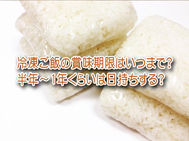 冷凍ご飯 賞味期限 半年